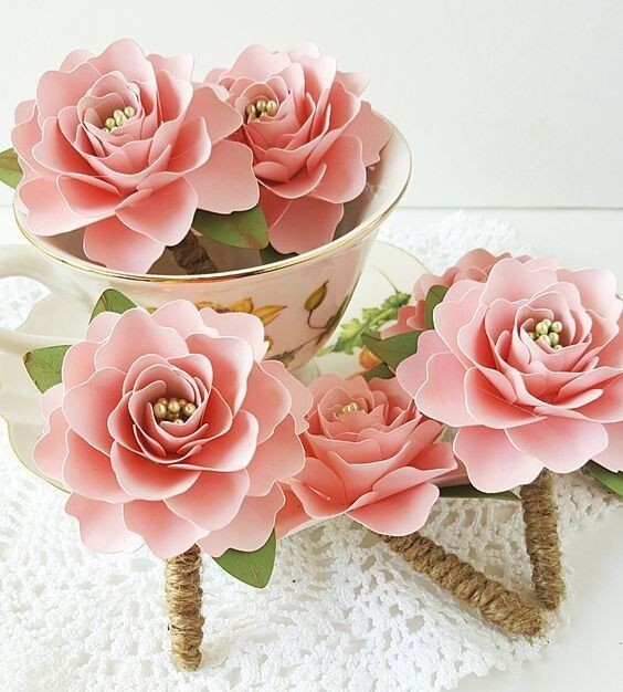 Делаем с детьми красивые цветочки