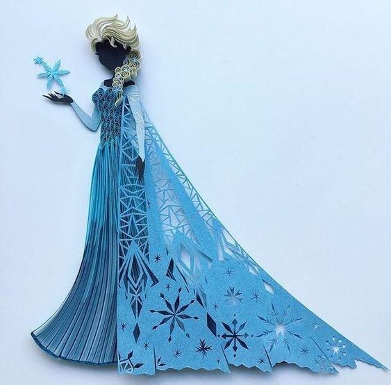 Диснеевские принцессы из бумаги