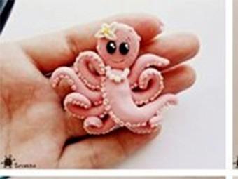 Лепим осьминога забавного немного