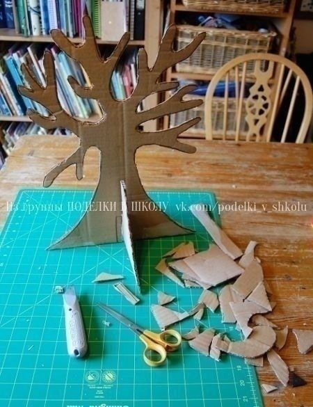 Трехмерное дерево из картона