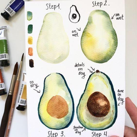 Учимся рисовать с детьми фрукты и ягоды