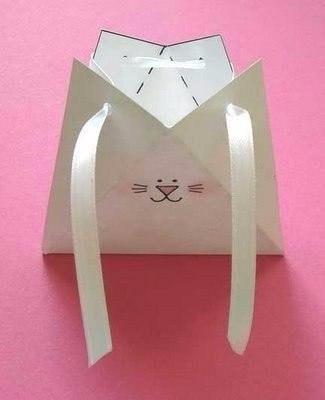Упаковка для подарка в виде зайчика