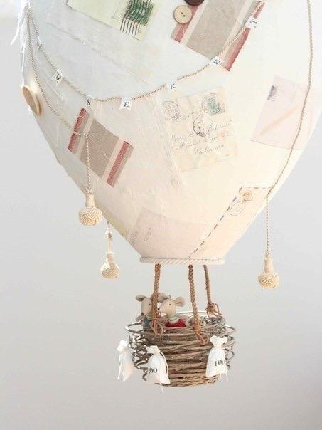 Делаем с детьми воздушный шар из папье-маше