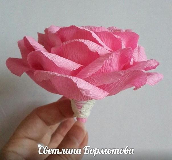 Мастер-класс по изготовлению объёмной розы с детьми