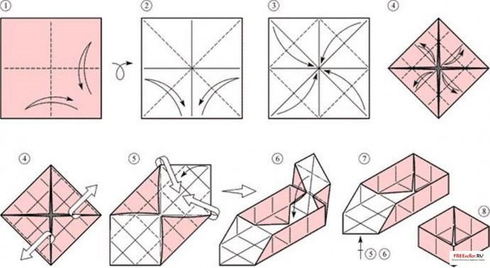 Коробочка в технике оригами