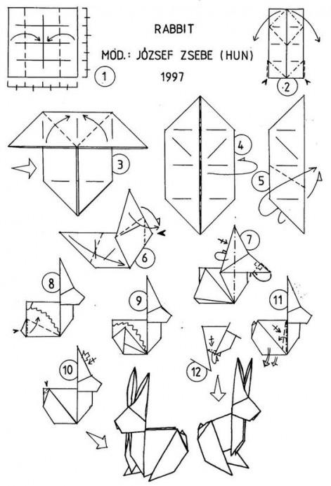 Кролики в технике оригами