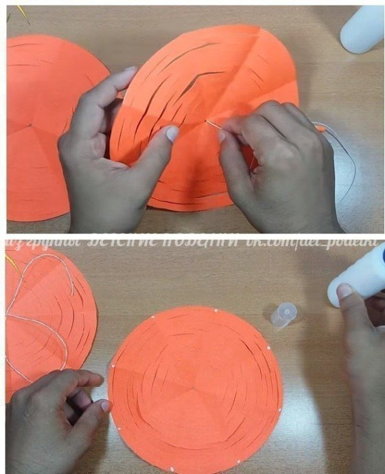 Объемная шишка, создаваемая из одного листа бумаги