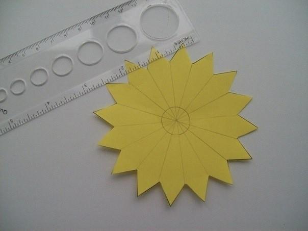Остроконечные цветы из бумаги: мастер-класс