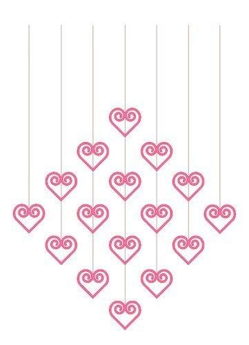 Мобиль из сердечек 3