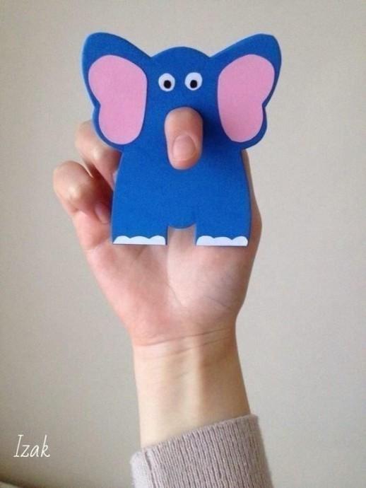 Варианты объемных хоботов у слоников