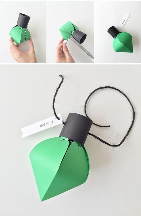 Делаем бумажные фонарики на гирлянду