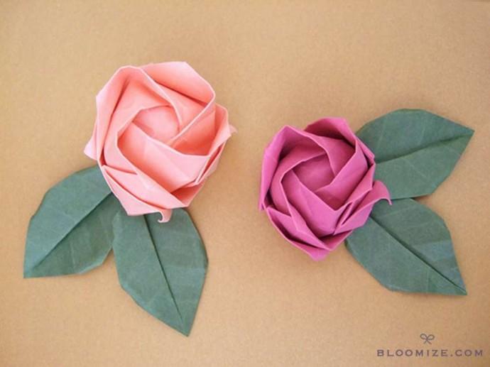 Делаем розу оригами 17