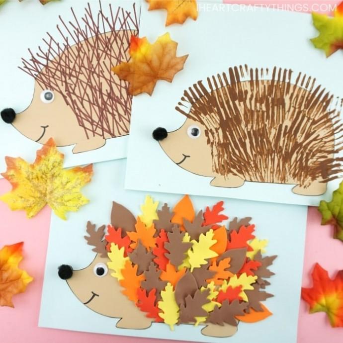 Осенние поделки с ёжиком