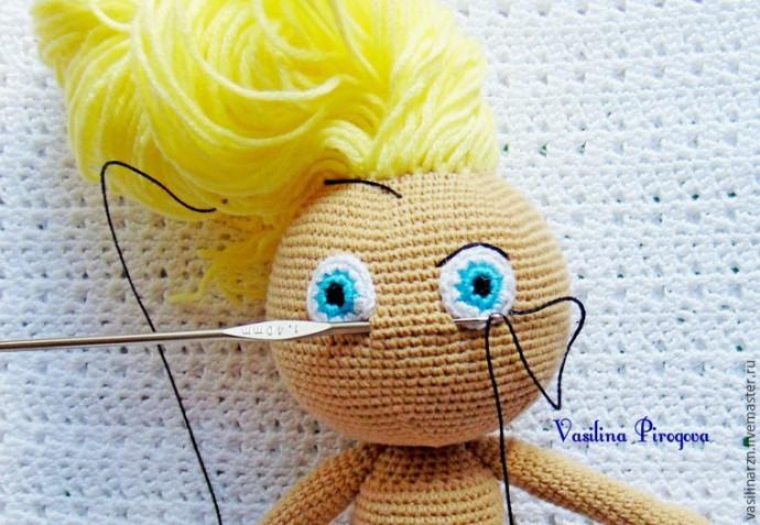 Как оформить лицо куколке 5