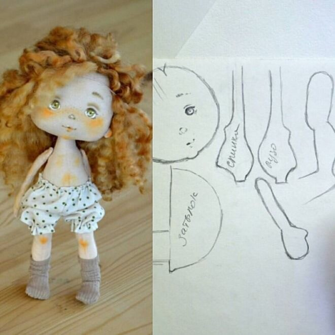 Куклы детскими руками