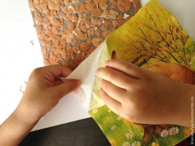 """Интересная картина а-ля """"фреска"""" вместе с детьми"""