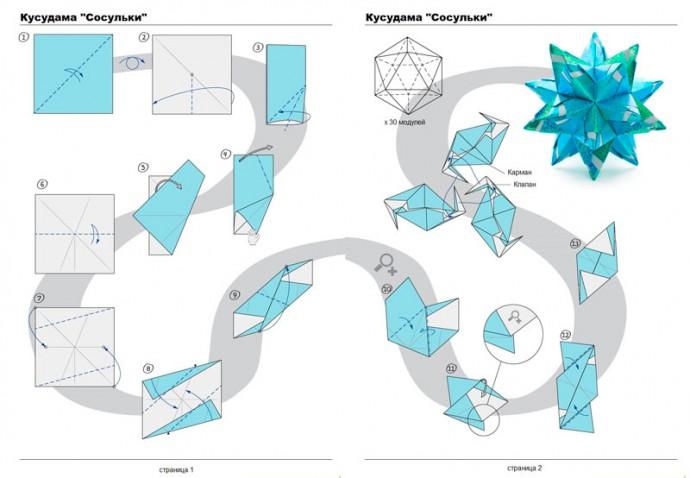 Лекарственные шары счастья оригами или  кусудама