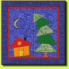 Лоскутное шитье с домиками