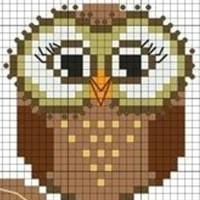 Схемы вышивок совушек для детей