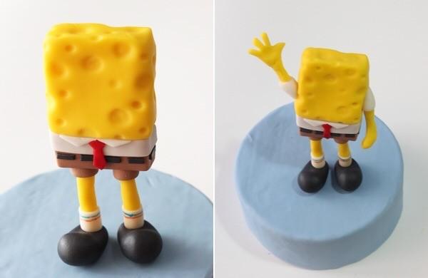 Спанч Боб из пластилина