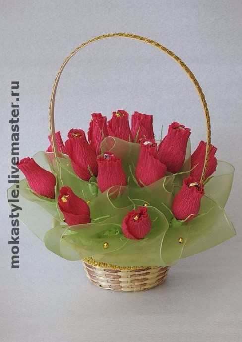 """Букет из конфет """"Бутоны роз"""""""