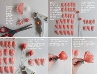 Цветы из формочек для кексов