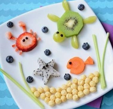 Морские животные: съедобная поделка