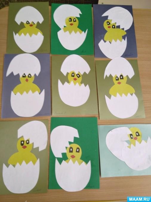 Пасхальная открытка с детьми