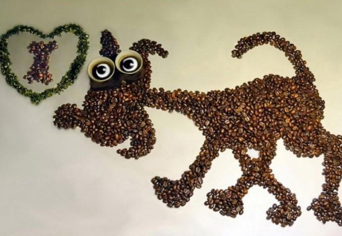 Аппликации из кофейных зерен: идеи
