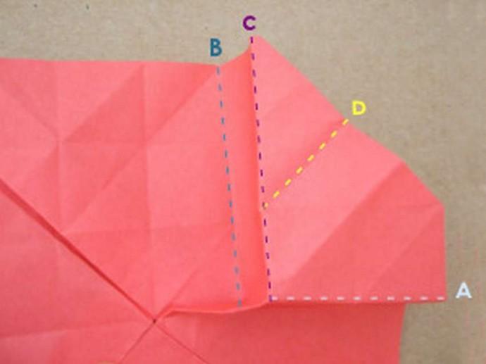 Делаем розу оригами 10