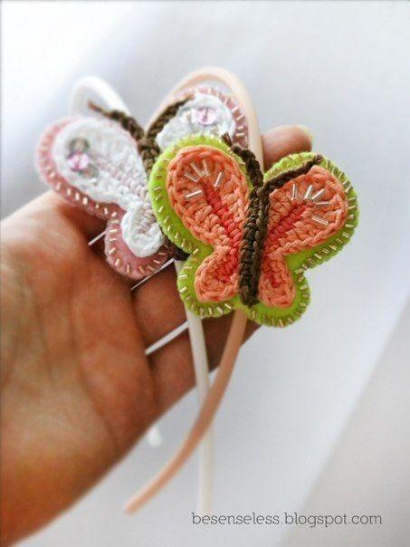 Вязаные бабочки