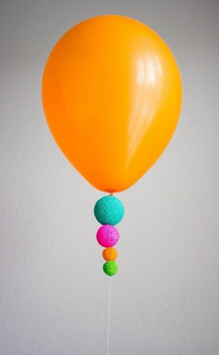 Идея украшений для воздушных шариков