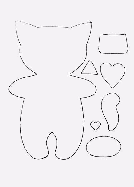 Мастерим славного котёночка из фетра