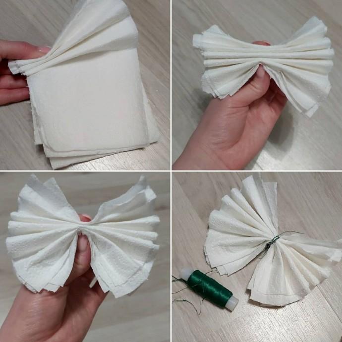 Объемные пионы из бумаги