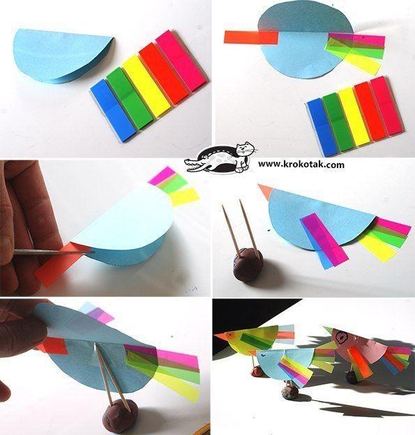 Курочки из бумаги