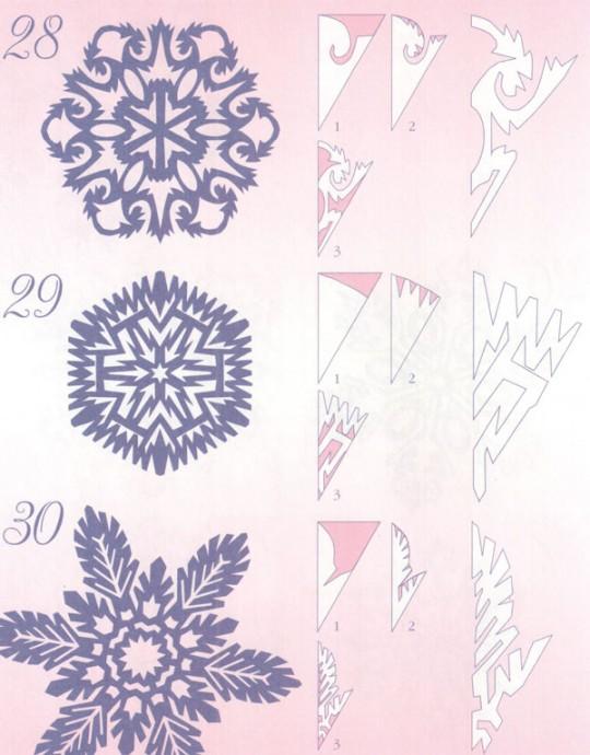 Прocтые схемы красивых снежинок 0