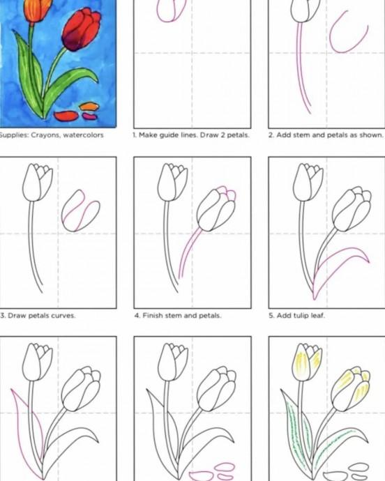 Рисуем с детьми цветочки