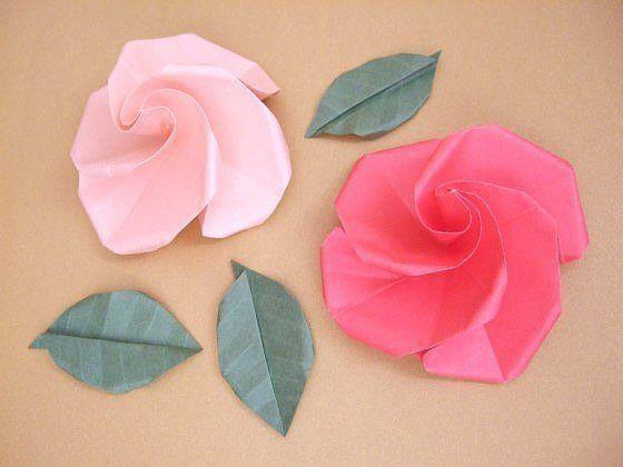 Делаем розу оригами 15