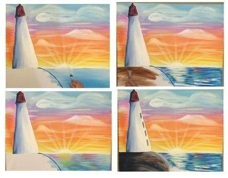 Рисуем с детками маяк