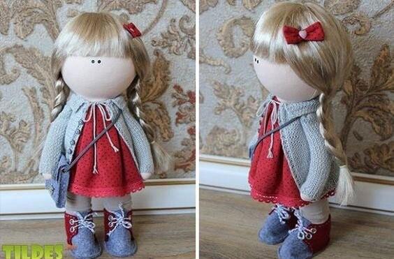 Шьем с детьми куклу тильду