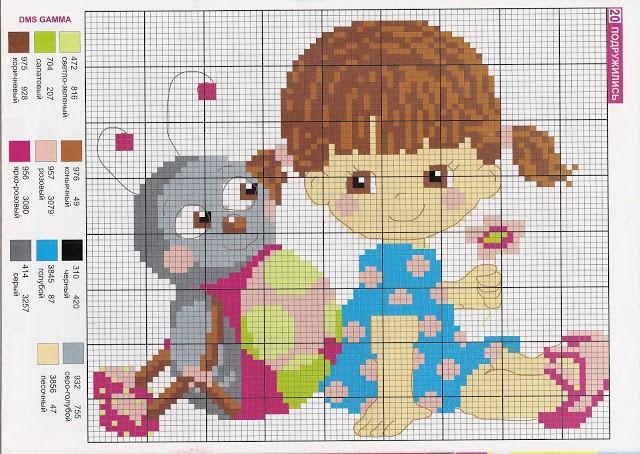 Схемы вышивки для детей
