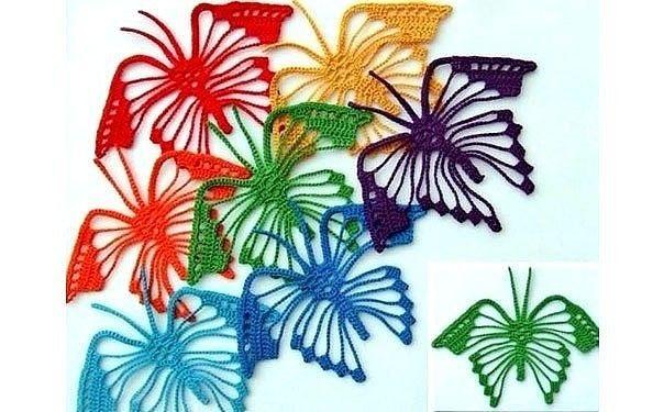 Бабочки крючком