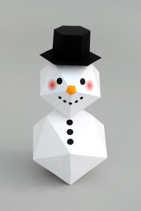 Геометрический снеговик с шаблонами 0