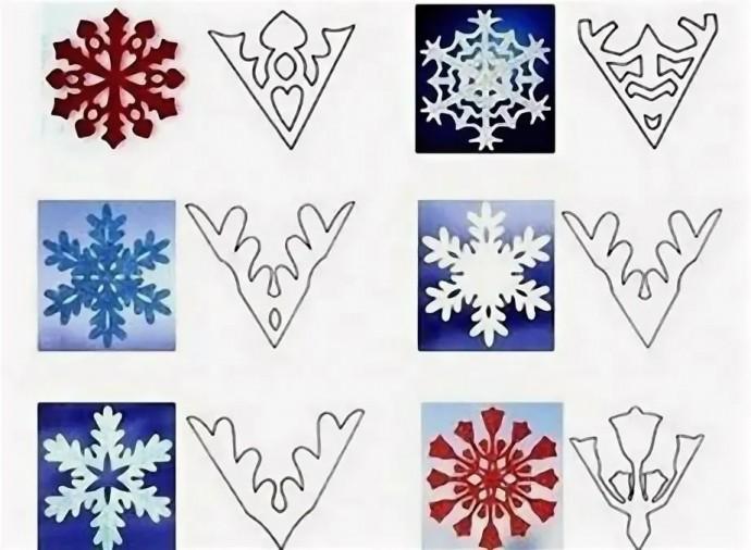 Вырезаем снежинки к Рождеству