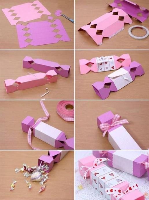 Делаем с детьми конфету из картона