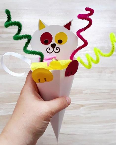 Оригинальная упаковка для конфет в виде котика