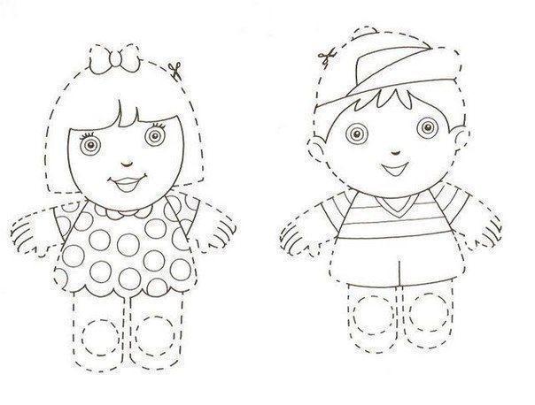 Пальчиковые куклы из картона