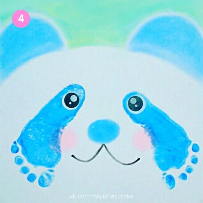 Рисуем панду ножками 4