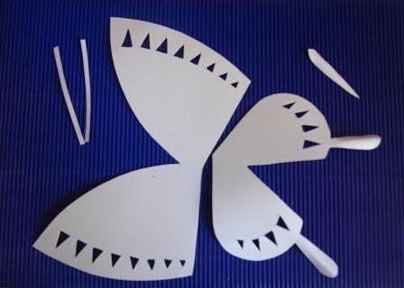 Бабочка из бумаги: техника киригами 2
