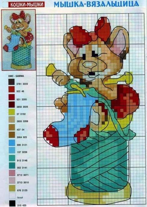 Схемы вышивки крыс крестом 2